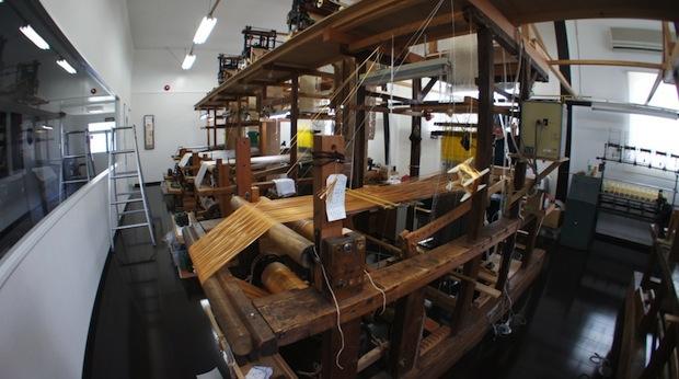 手織り工房の様子「福絖織物」