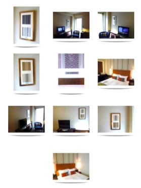 ホテル全室に額装