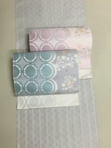 博多織の帯と着尺のコラボレーション