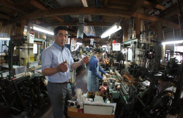筑前織物周船寺工場